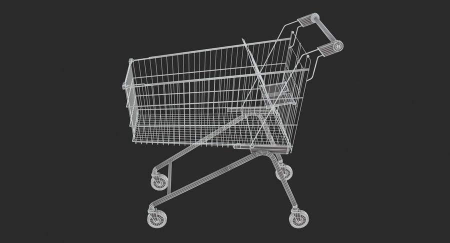 Supermarket - Shopping Cart royalty-free 3d model - Preview no. 5