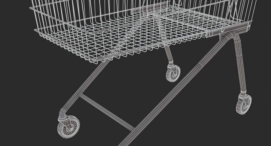Supermarket - Shopping Cart royalty-free 3d model - Preview no. 9