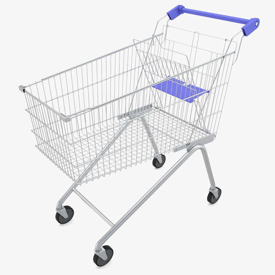Supermarket - Shopping Cart royalty-free 3d model - Preview no. 1