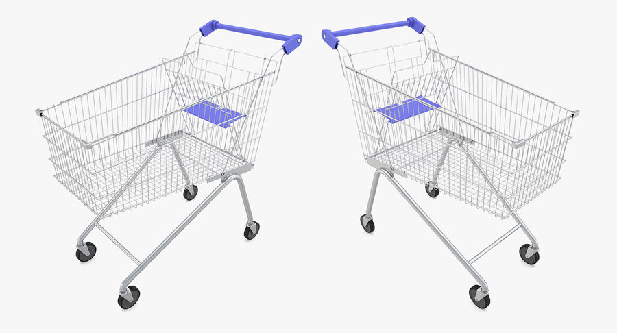 Супермаркет - Корзина royalty-free 3d model - Preview no. 2
