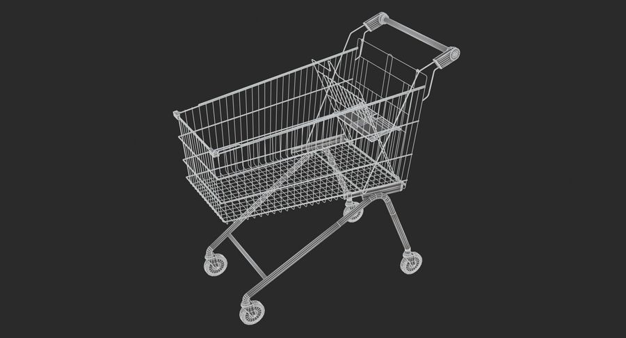 Супермаркет - Корзина royalty-free 3d model - Preview no. 7
