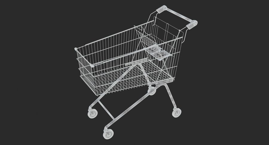 Supermarket - Shopping Cart royalty-free 3d model - Preview no. 8