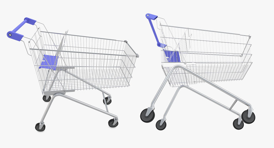 Supermarket - Shopping Cart royalty-free 3d model - Preview no. 3