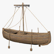 古代のボート 3d model