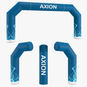 Zip-Off 800-80 inflatable arch Axion 3d model