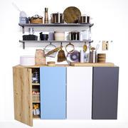 Miejsce pracy w kuchni 3d model