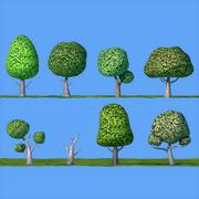 Laag Poly Cartoon Tree Pack 3d model