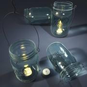 Mason Jar Lantern 3d model