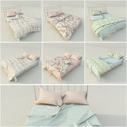 Shabby Chic Beds 3d model