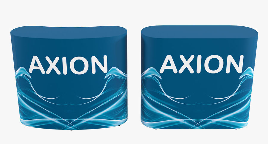 Desk Furniture inflatable Axion royalty-free 3d model - Preview no. 6