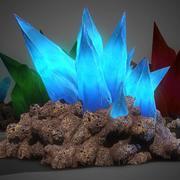 3D Cave Crystals - SPEL KLAR 3d model