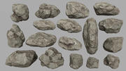 камни установлены 3d model