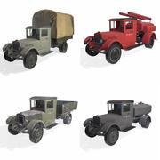 soviet truck in 4 variation 3d model