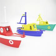 Łodzie zabawkowe 3d model