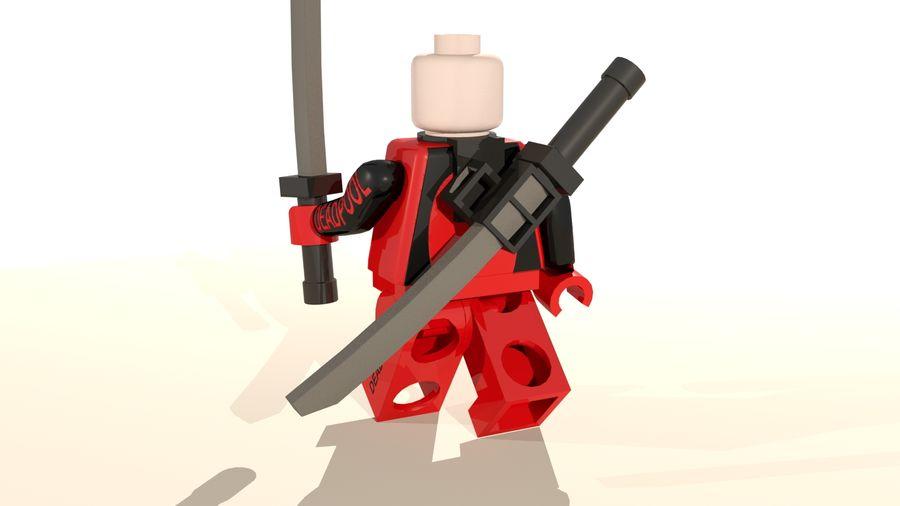 Lego Deadpool Karakter royalty-free 3d model - Preview no. 13