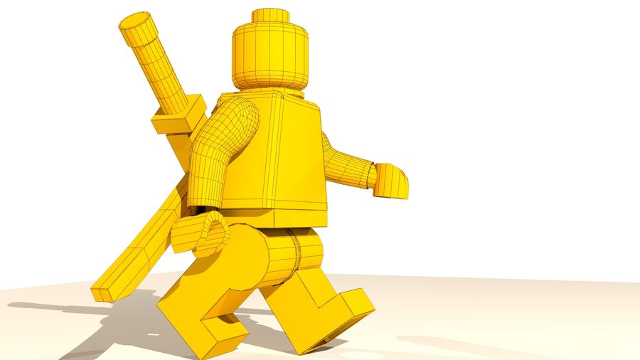 Lego Deadpool Karakter royalty-free 3d model - Preview no. 18