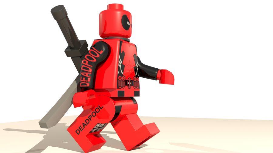 Lego Deadpool Karakter royalty-free 3d model - Preview no. 3