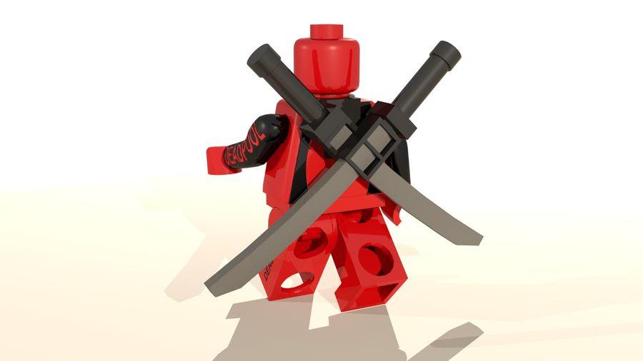 Lego Deadpool Karakter royalty-free 3d model - Preview no. 5