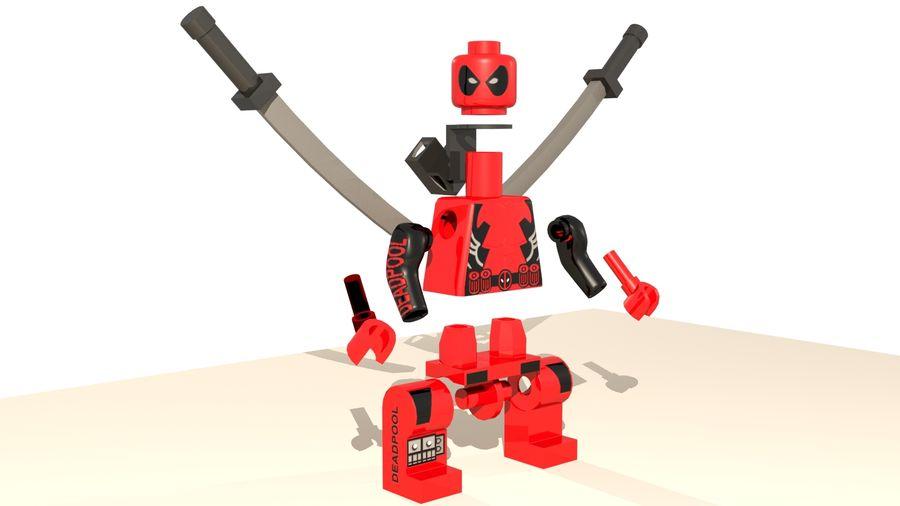 Lego Deadpool Karakter royalty-free 3d model - Preview no. 8