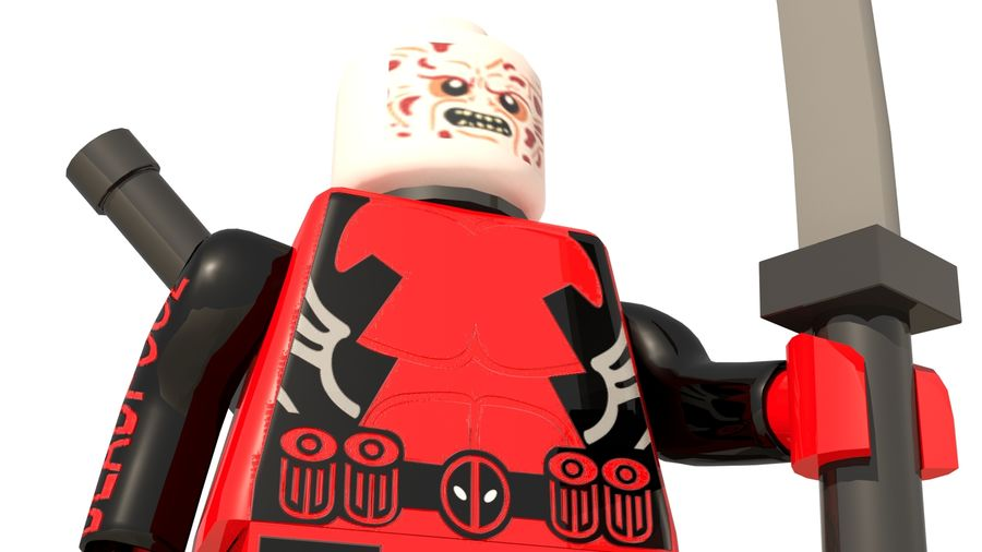 Lego Deadpool Karakter royalty-free 3d model - Preview no. 15