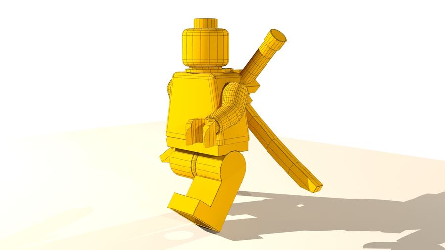 Lego Deadpool Karakter royalty-free 3d model - Preview no. 17