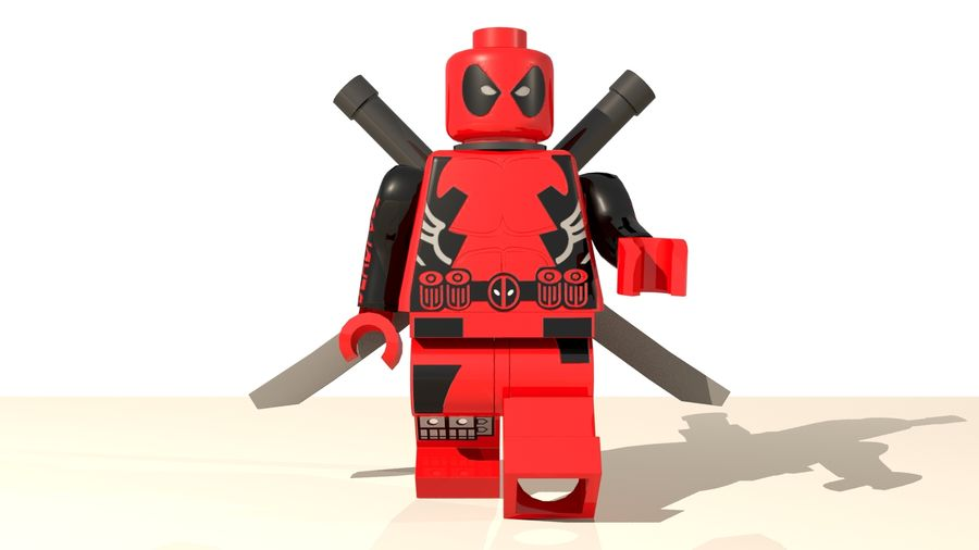 Lego Deadpool Karakter royalty-free 3d model - Preview no. 1