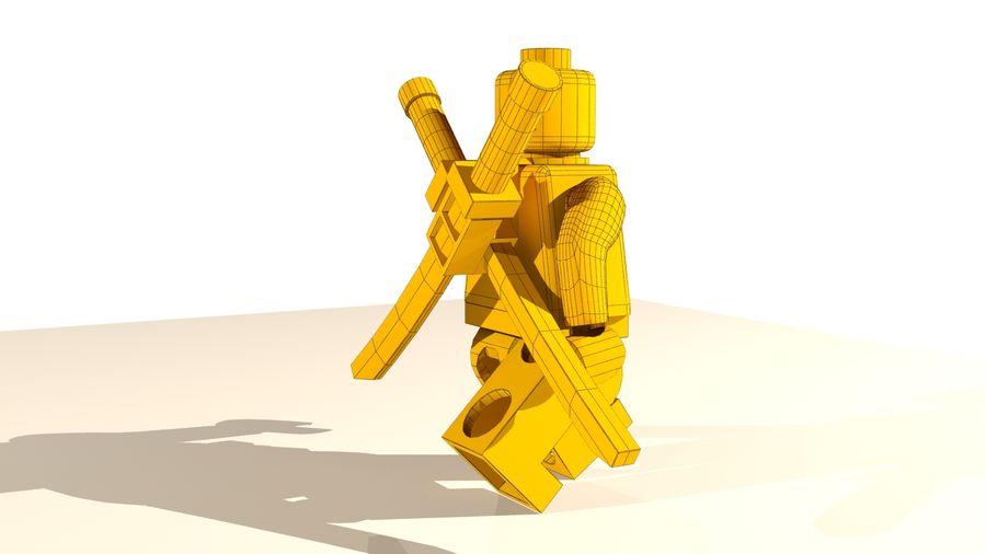 Lego Deadpool Karakter royalty-free 3d model - Preview no. 21