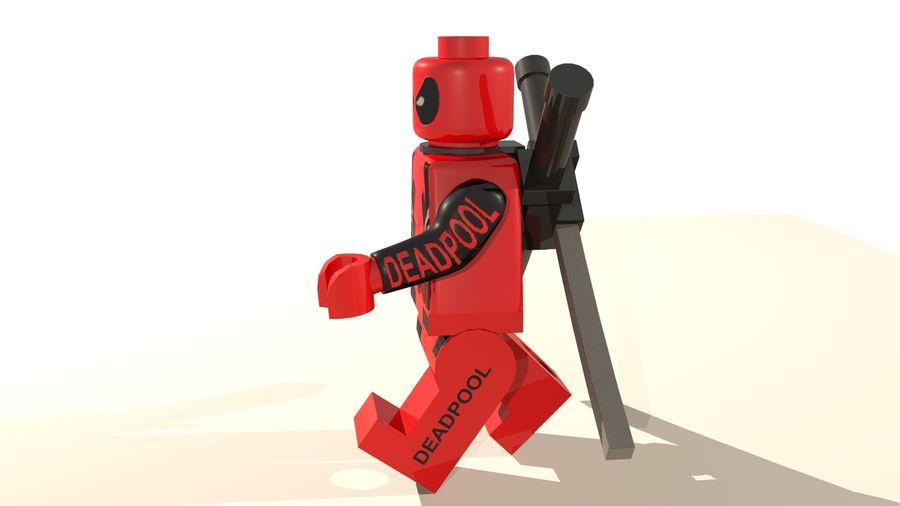 Lego Deadpool Karakter royalty-free 3d model - Preview no. 4
