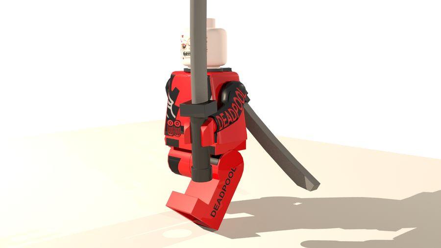 Lego Deadpool Karakter royalty-free 3d model - Preview no. 10