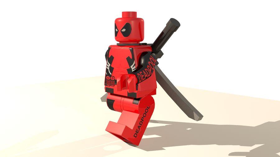 Lego Deadpool Karakter royalty-free 3d model - Preview no. 2