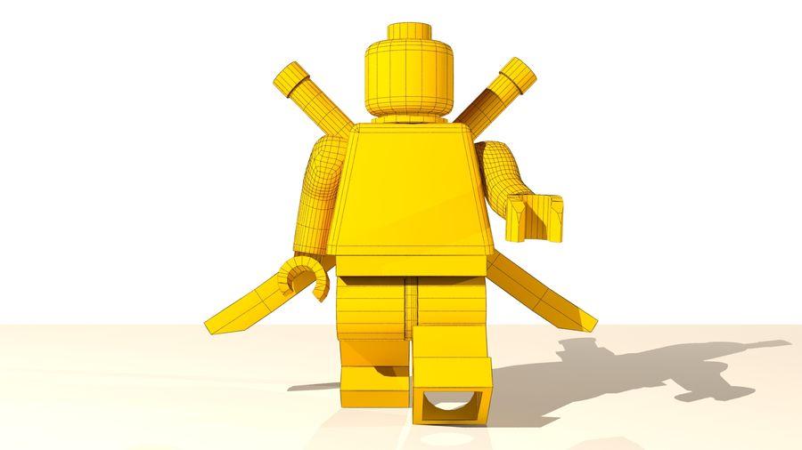 Lego Deadpool Karakter royalty-free 3d model - Preview no. 16