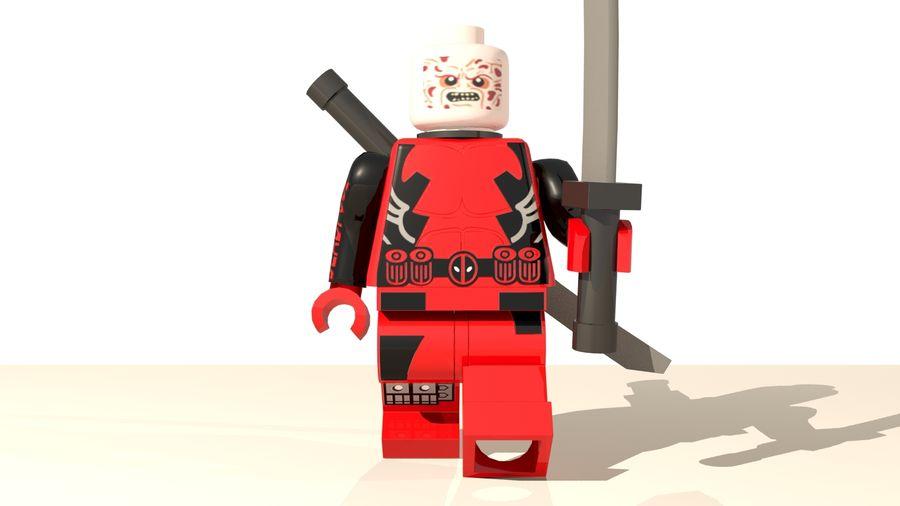 Lego Deadpool Karakter royalty-free 3d model - Preview no. 9