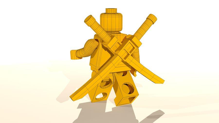 Lego Deadpool Karakter royalty-free 3d model - Preview no. 20