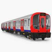 London Subway Train S8 Rigged 3D Model 3d model