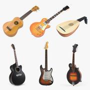 Kolekcja modeli 3D instrumentów strunowych 3d model