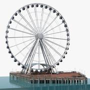 Seattle Great Ferris Wheel no Pier Rigged 3D Model 3d model