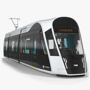 Luxembourg Tram Urbos 3d model