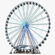 Roda-gigante de Seattle à noite 3d model