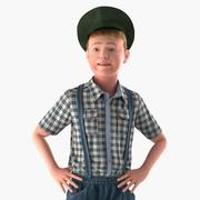 Realistic Child Boy Rigged 3D Model 3d model