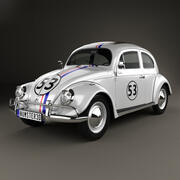 Volkswagen maggiolino Herbie the Love Bug 1963 3d model
