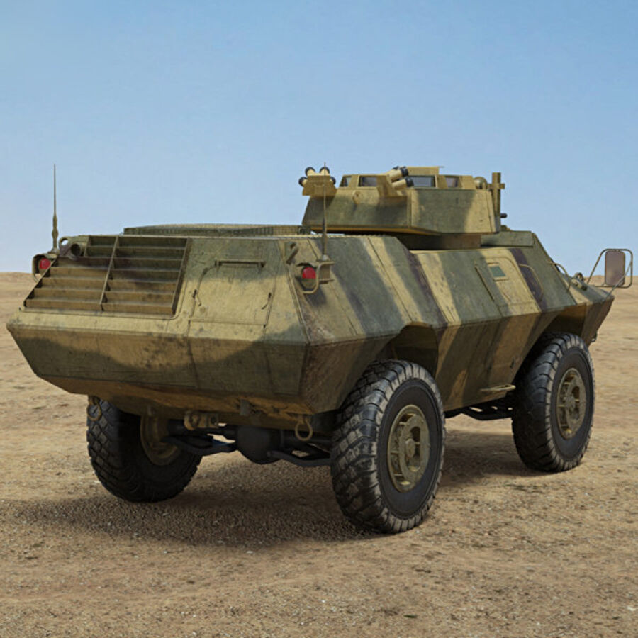 M1117 Armored Security Vehicle royalty-free 3d model - Preview no. 2