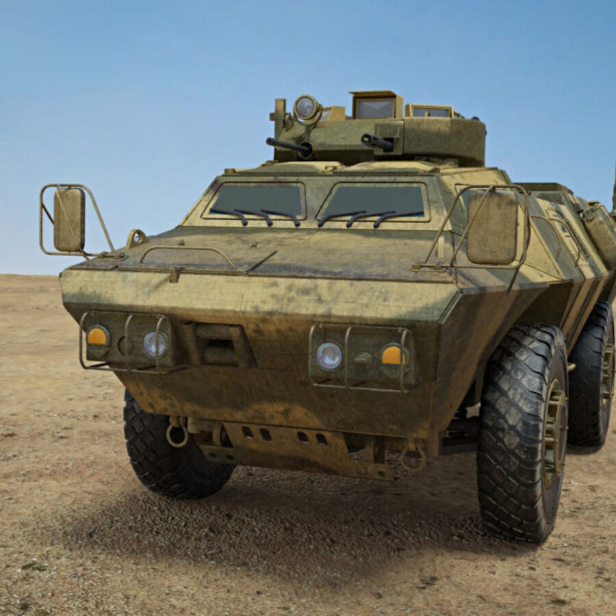 M1117 Armored Security Vehicle royalty-free 3d model - Preview no. 6