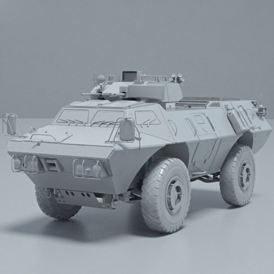M1117 Armored Security Vehicle royalty-free 3d model - Preview no. 11