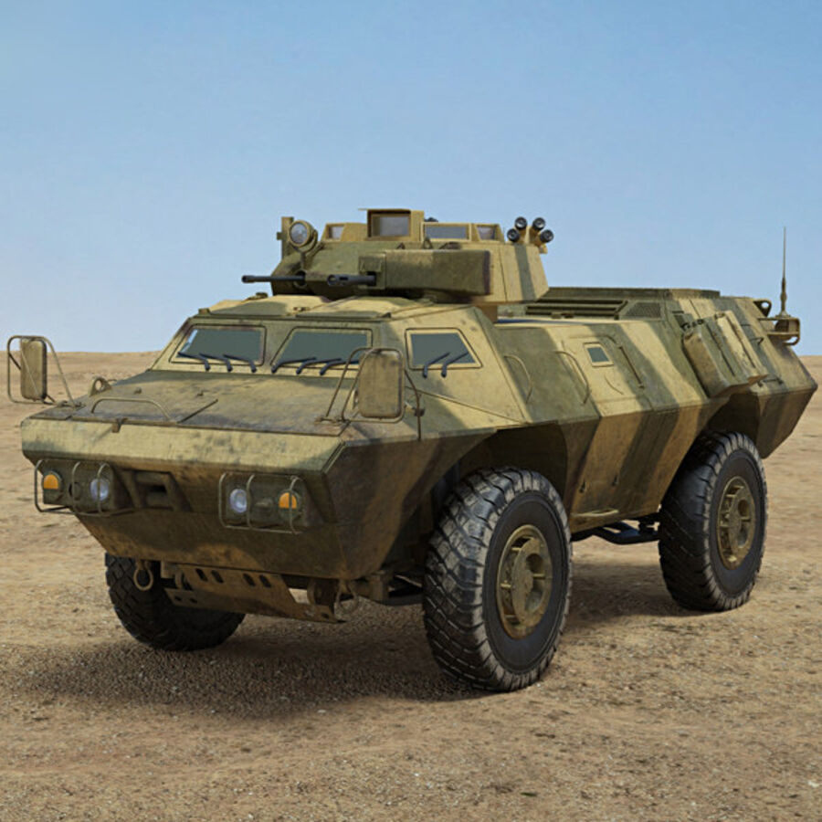 M1117 Armored Security Vehicle royalty-free 3d model - Preview no. 1