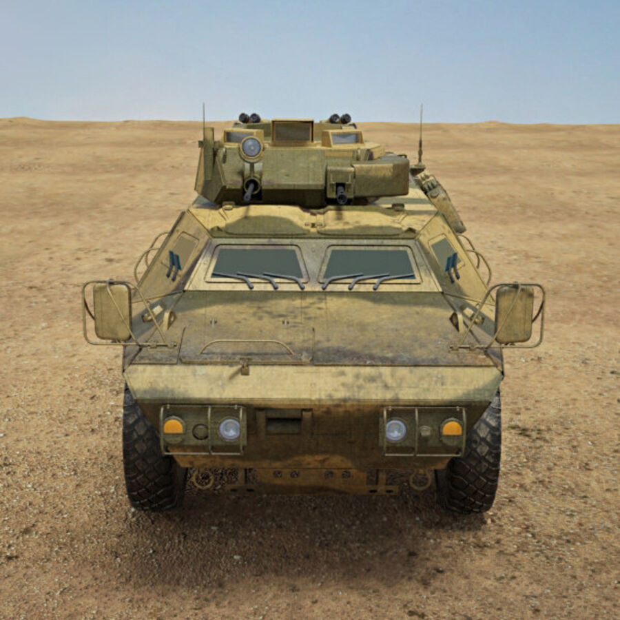 M1117 Armored Security Vehicle royalty-free 3d model - Preview no. 10