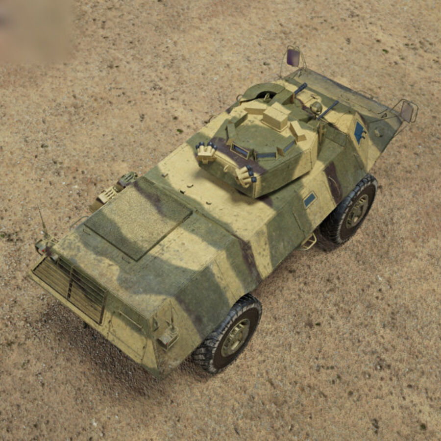 M1117 Armored Security Vehicle royalty-free 3d model - Preview no. 9