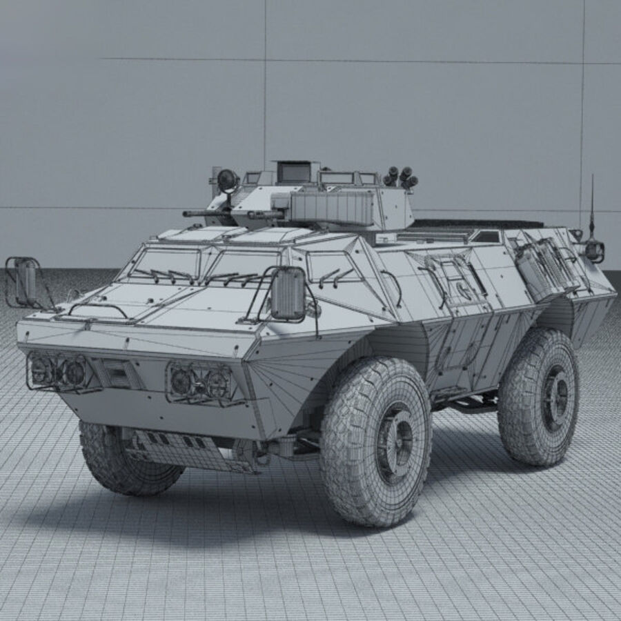 M1117 Armored Security Vehicle royalty-free 3d model - Preview no. 3