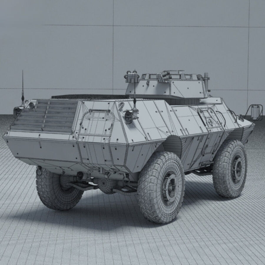 M1117 Armored Security Vehicle royalty-free 3d model - Preview no. 4
