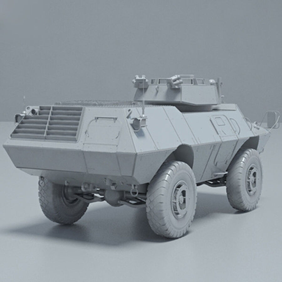 M1117 Armored Security Vehicle royalty-free 3d model - Preview no. 12