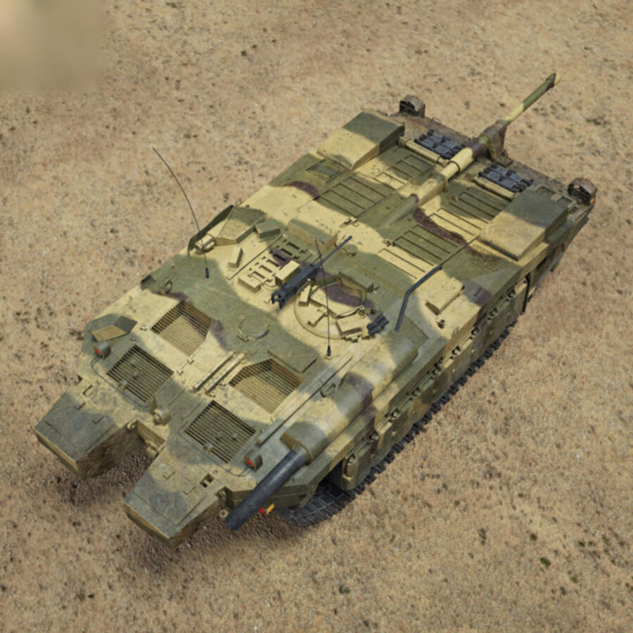 Stridsvagn 103 royalty-free 3d model - Preview no. 9